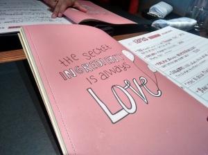 The menu at Farzi Cafe.