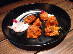 Tandoori soy chops: unusual, and good.