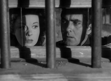 Susan Hayward and Tyrone Power in Rawhide