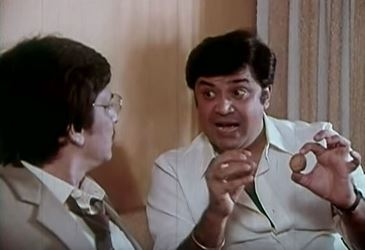 Deven Verma with Amol Palekar in Rang Birangi
