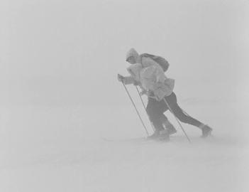 Through a blizzard