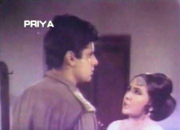 Meena Kumari and Sanjay Khan in Abhilasha