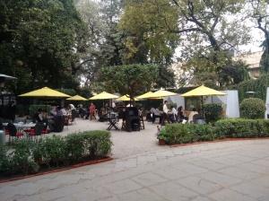 The Garden Restaurant: outdoor seating