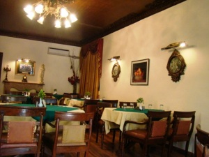 The Kumaon Room, the Windsor Lodge's restaurant.