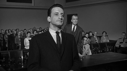 George C Scott and James Stewart in Anatomy of a Murder
