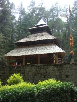 Hadimba Temple, set in a deodar forest.