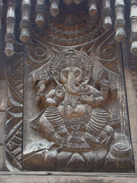 A carved Ganesh at the temple.