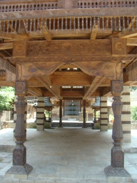 A porch at the temple.