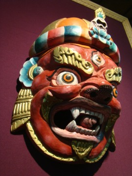 At Urusvati, a Bhutia mask.