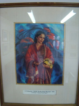 Devika Rani, painted by her husband, Svetoslav Roerich.