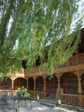 An inner courtyard at Naggar Castle.