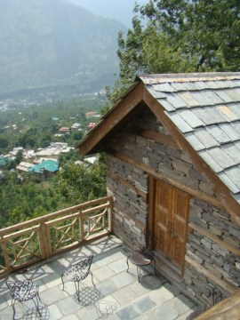 The view from the balcony at Naggar Castle.