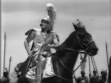 Prithviraj Kapoor in and as Sikandar