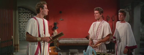 Charlton Heston and Stephen Boyd in Ben Hur