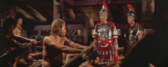 Quintus Arrius sees Be-Hur at the oars