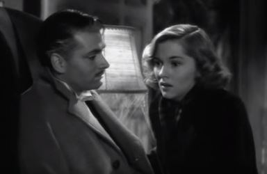 Jane Fontaine and Laurence Olivier in Rebecca