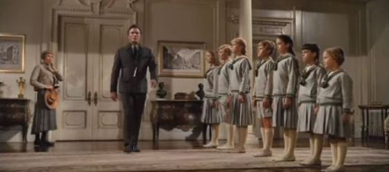 Christopher Plummer, Julie Andrews and the children in The Sound of Music
