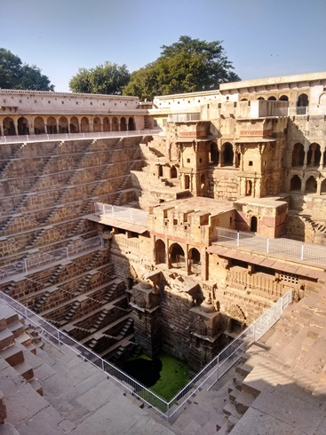 The magnificent Chand Baori at Abhaneri, built in the 8th century.