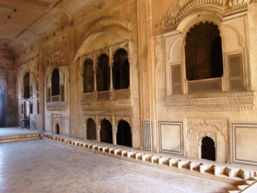 Deeg Palaces: Nand Bhawan, the akhara. This is where the maharaja and his guests sat to watch wrestling bouts.