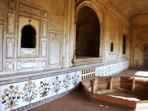 Deeg Palaces: Suraj Bhawan. Originally part of the Red Fort, this was dismantled and brought away to be reassembled after Surajmal ransacked the Red Fort.