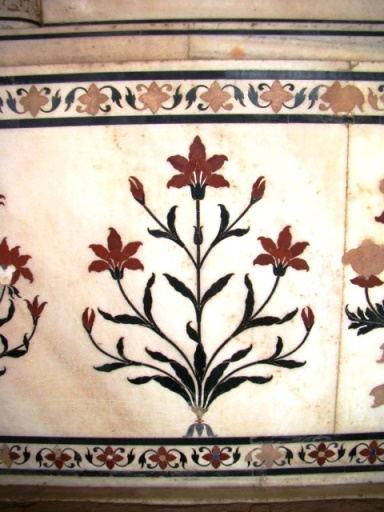 Pietra dura inlay work at Suraj Bhawan, Deeg Palaces.