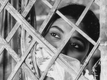 Supriya Choudhury as Neeta in Meghe Dhaka Tara