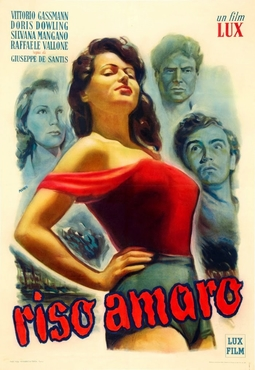 Movie poster of Riso Amaro